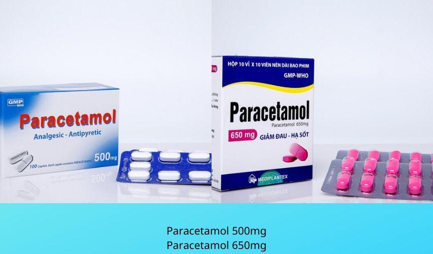 Paracetamol 500mg, 650mg dạng viên nén điều trị giảm đau, hạ sốt ở người lớn