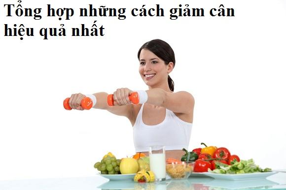 Các cách giảm cân hiệu quả nhất