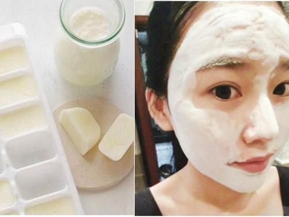 Cách làm trắng da bằng sữa tươi đông đá