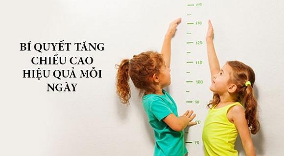 Cách tăng chiều cao hiệu quả mỗi ngày