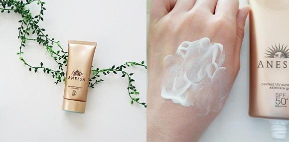 Kem chống nắng shiseido anessa làm êm dịu da, giúp da mềm mại