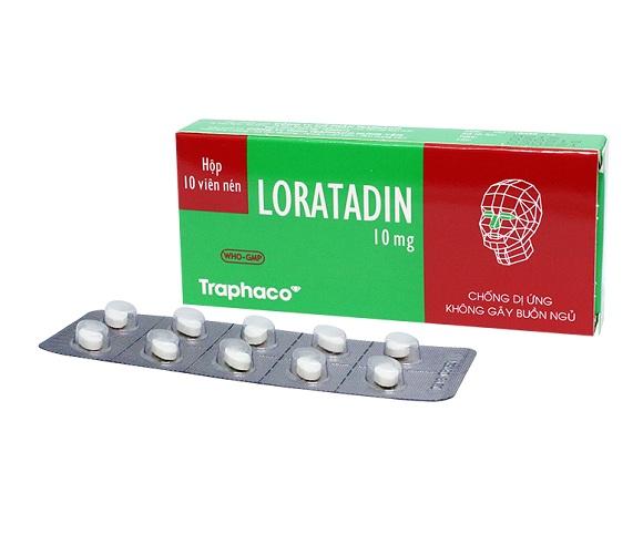 Loratadin điều trị viêm mũi dị ứng, viêm kết mạc dị ứng, ngứa và mày đay liên quan đến histamin (3)