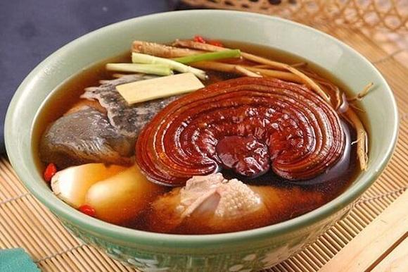 Món súp linh chi đỏ