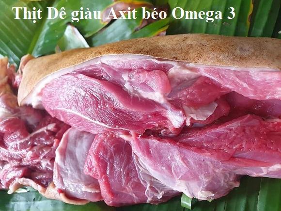 Thịt dê giàu axit béo Omega 3