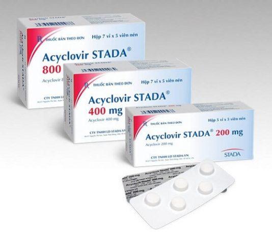 Thuốc Acyclovir dự phòng hoặc điều trị Herpes simplex trên da và niêm mạc (1)