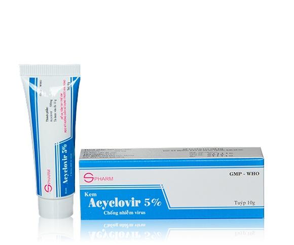 Thuốc Acyclovir dự phòng hoặc điều trị Herpes simplex trên da và niêm mạc (5)