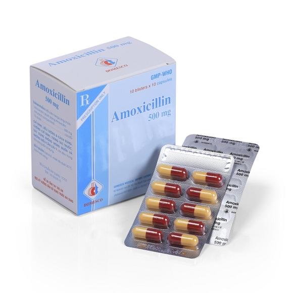 Thuốc kháng sinh Amoxicillin được sử dụng trong điều trị nhiễm trùng (4)