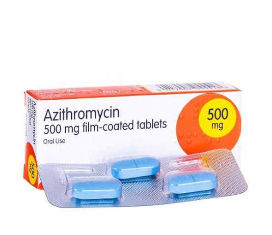 Azithromycin là thuốc kháng sinh, có khả năng ức chế sự phát triển của vi khuẩn (1)