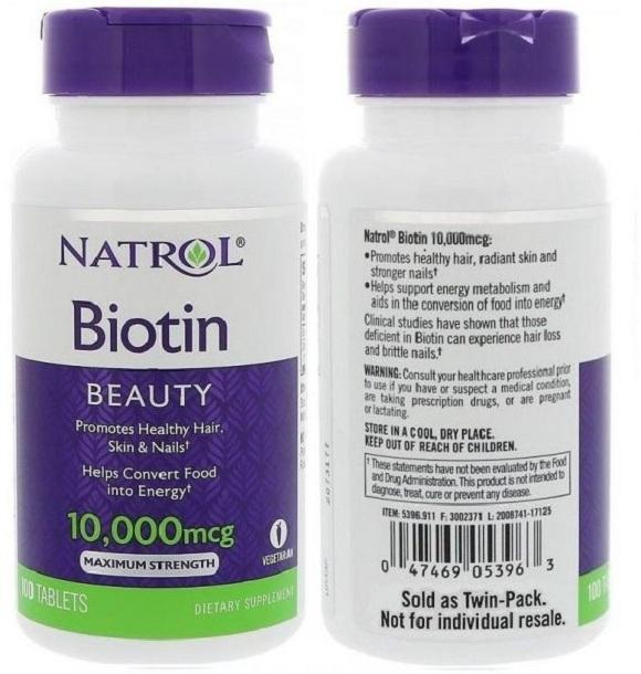 Biotin có tác dụng bổ sung vi chất, từ đó tác động đến cơ thể và cải thiện các vấn đề như rụng tóc, tóc yếu (1)
