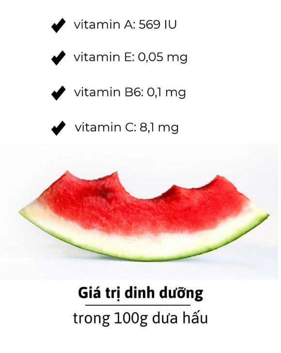 Giá trị dinh dưỡng có trong dưa hấu (2)