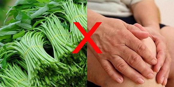 Người bị viêm khớp không nên ăn rau muống (6)