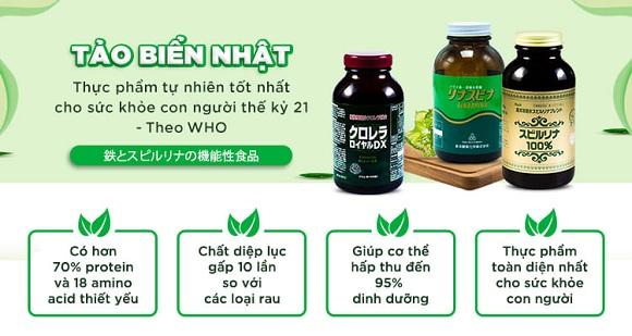 Tảo xoắn Spirulina tăng cường sức khỏe, làm đẹp da, thanh lọc cơ thể (2)